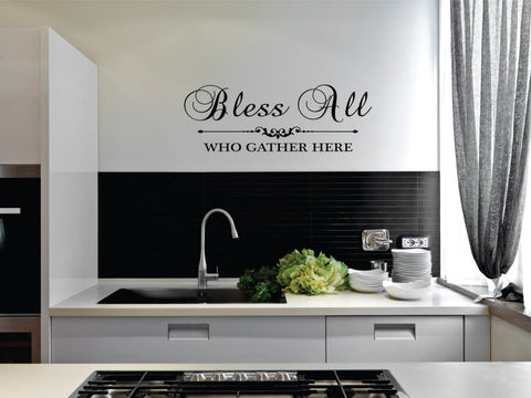 Bless All Wall Vinyl Decal