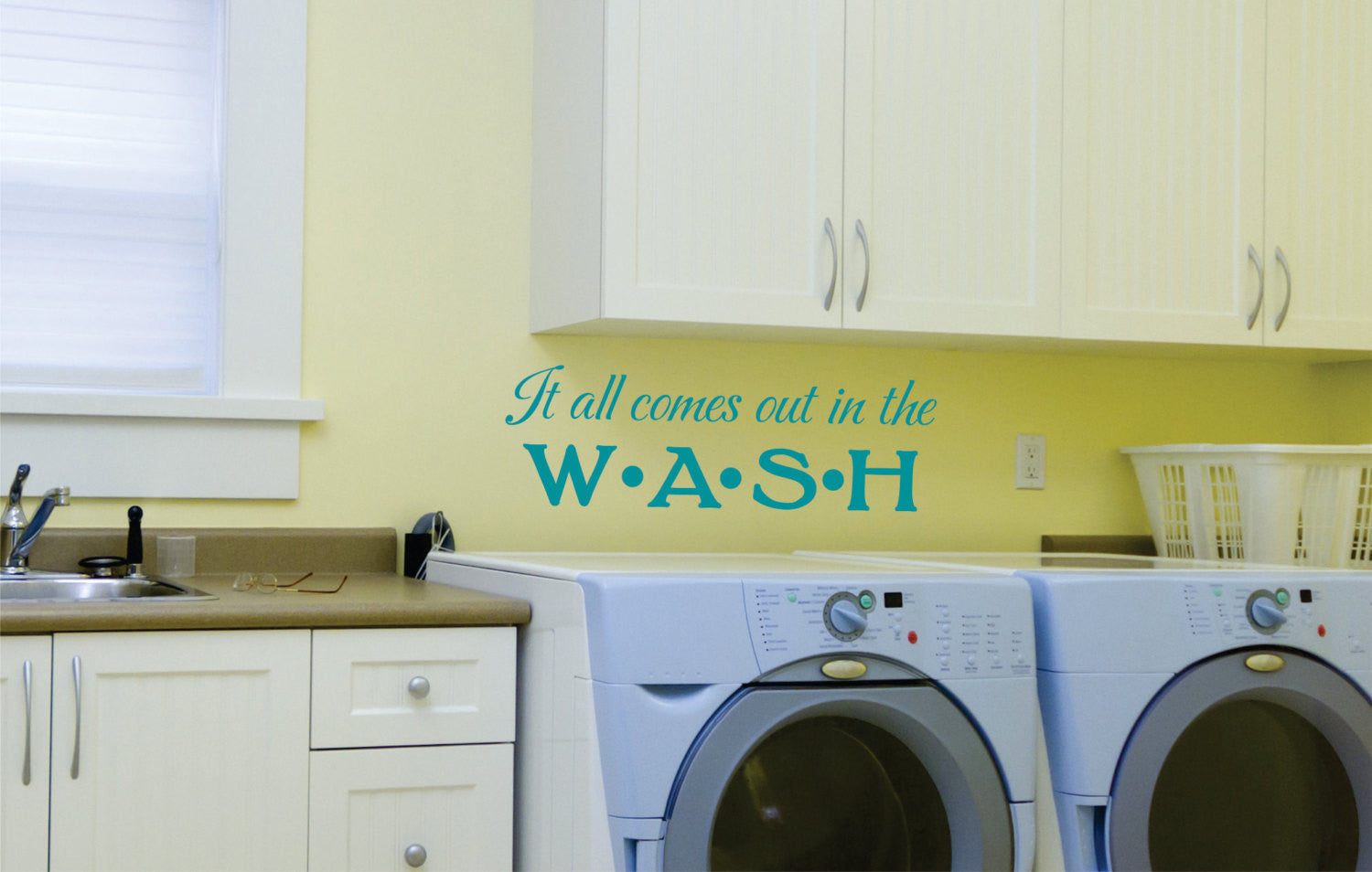 It All Comes Out in the Wash Decal