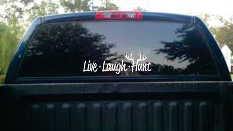Live Laugh Hunt Car Decal