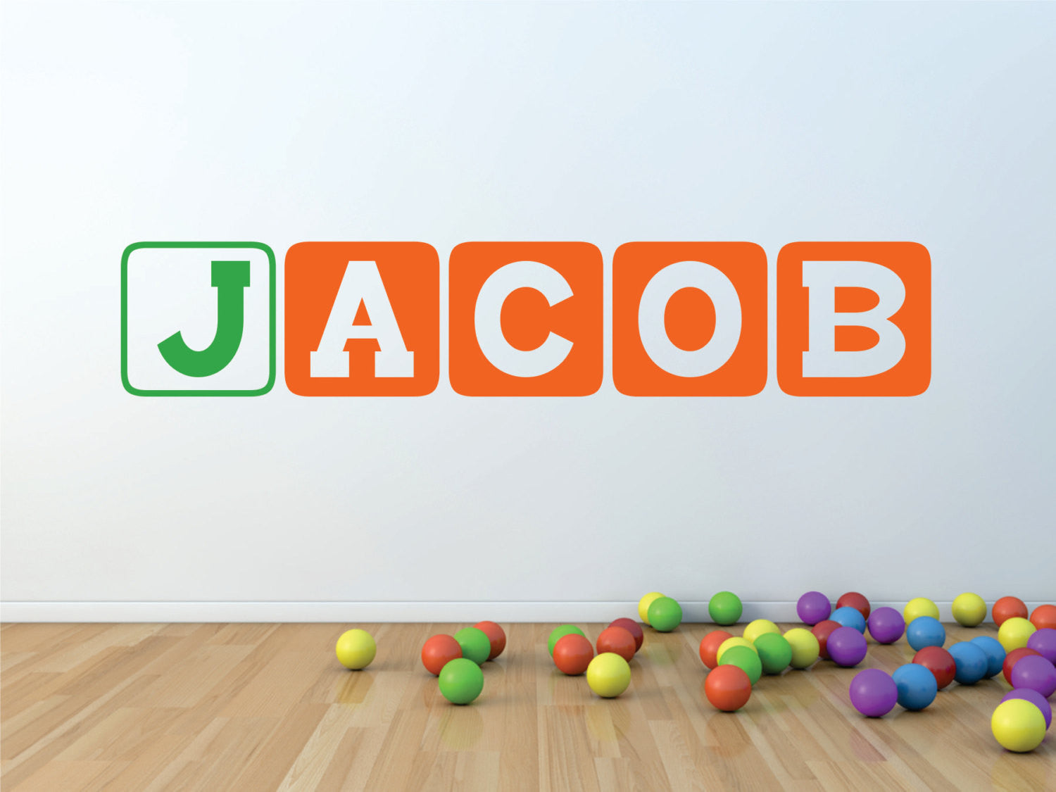 Boys Block Letters Personalized Wall Decor