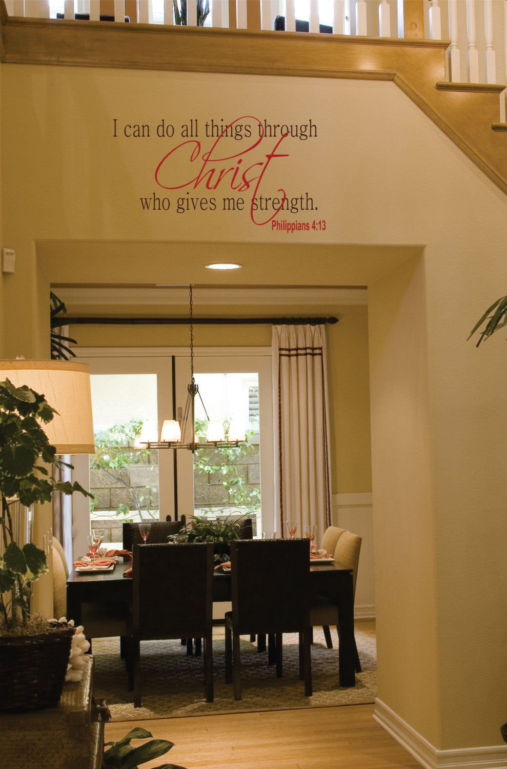Christ - Philippians 4:13 Wall Decals