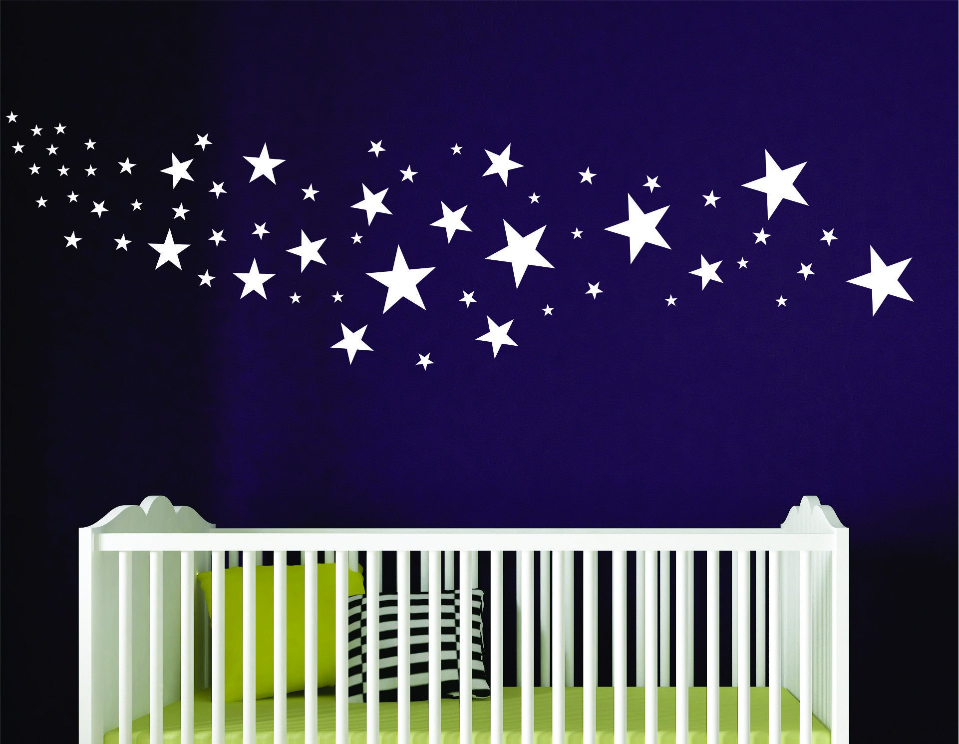 Star Decals - Design Pack of 109 Stars choose any color