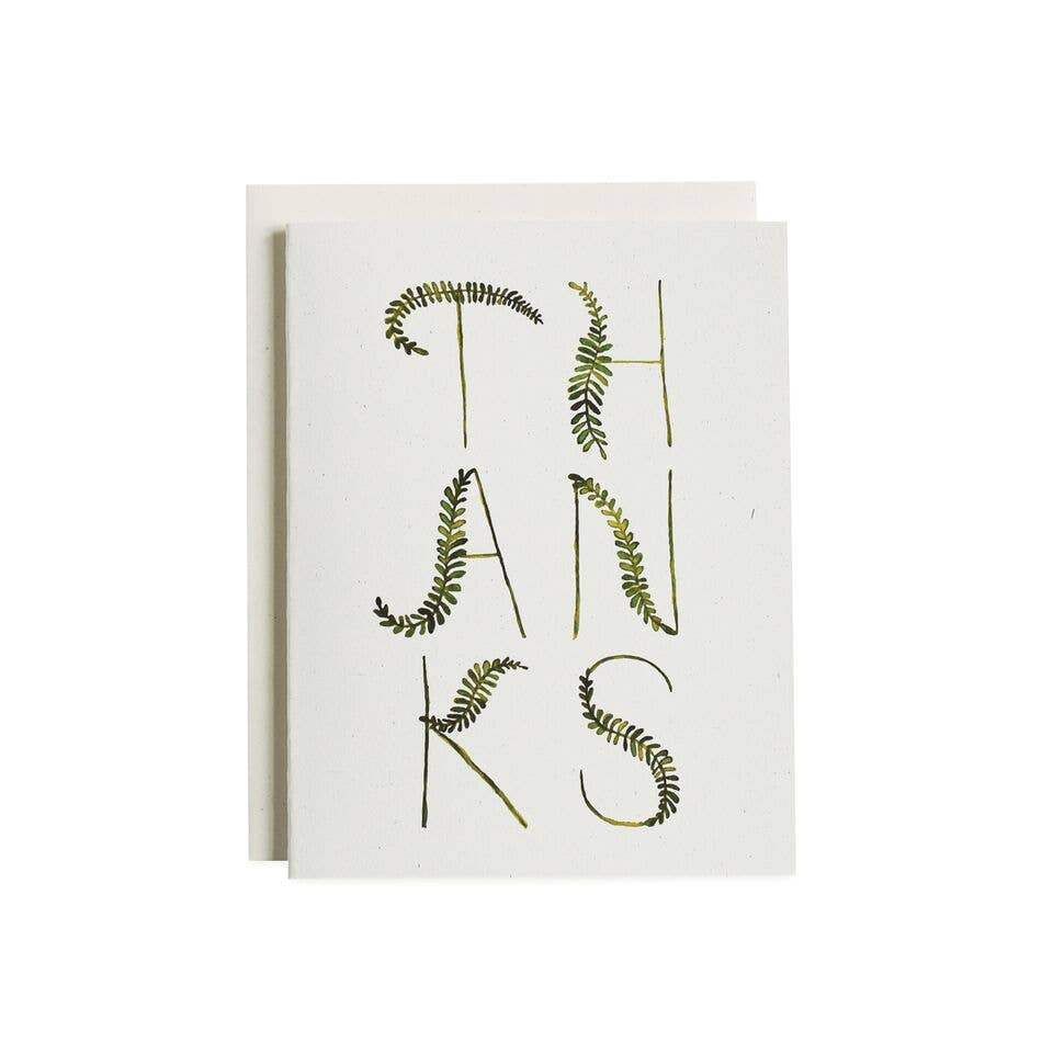 Fern Fronds Thank You Card