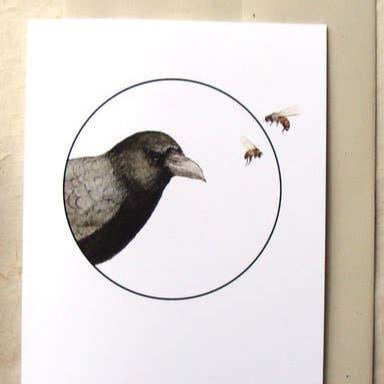 Crow + the Bees Card