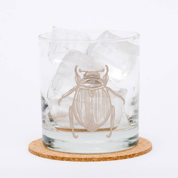 Beetle Whiskey Glass