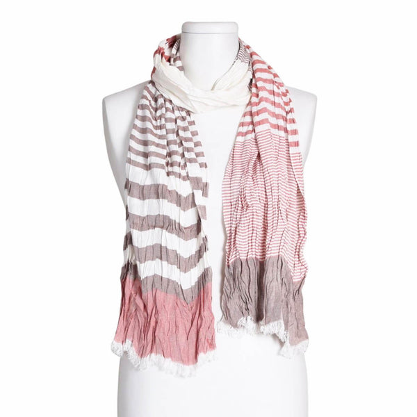 Lightweight Striped Summer Scarf