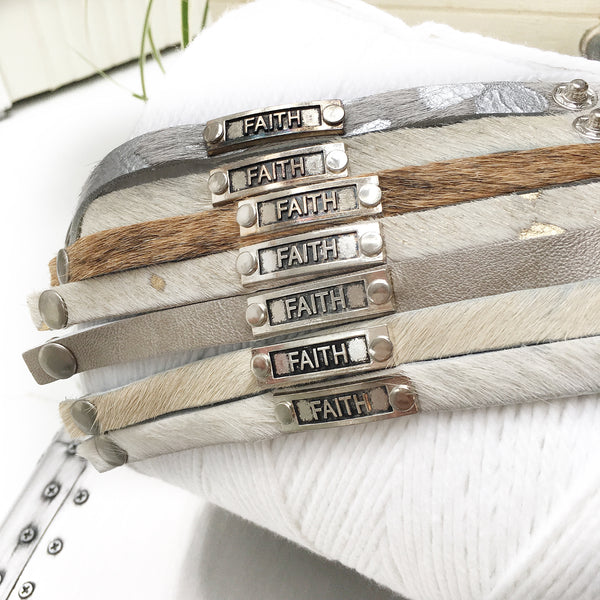 Faith Leather Stackable