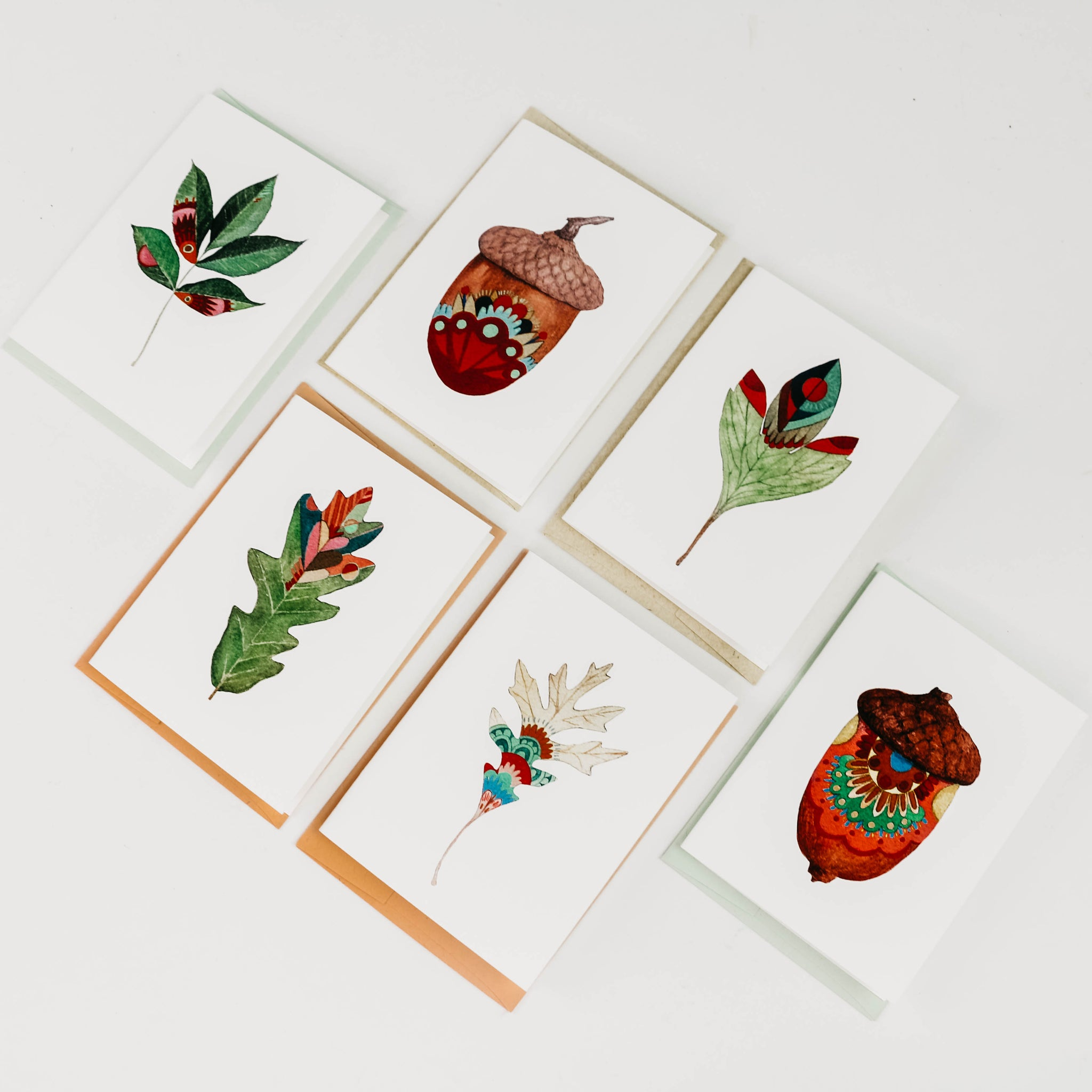Acorn + Leaf Collection Note Cards