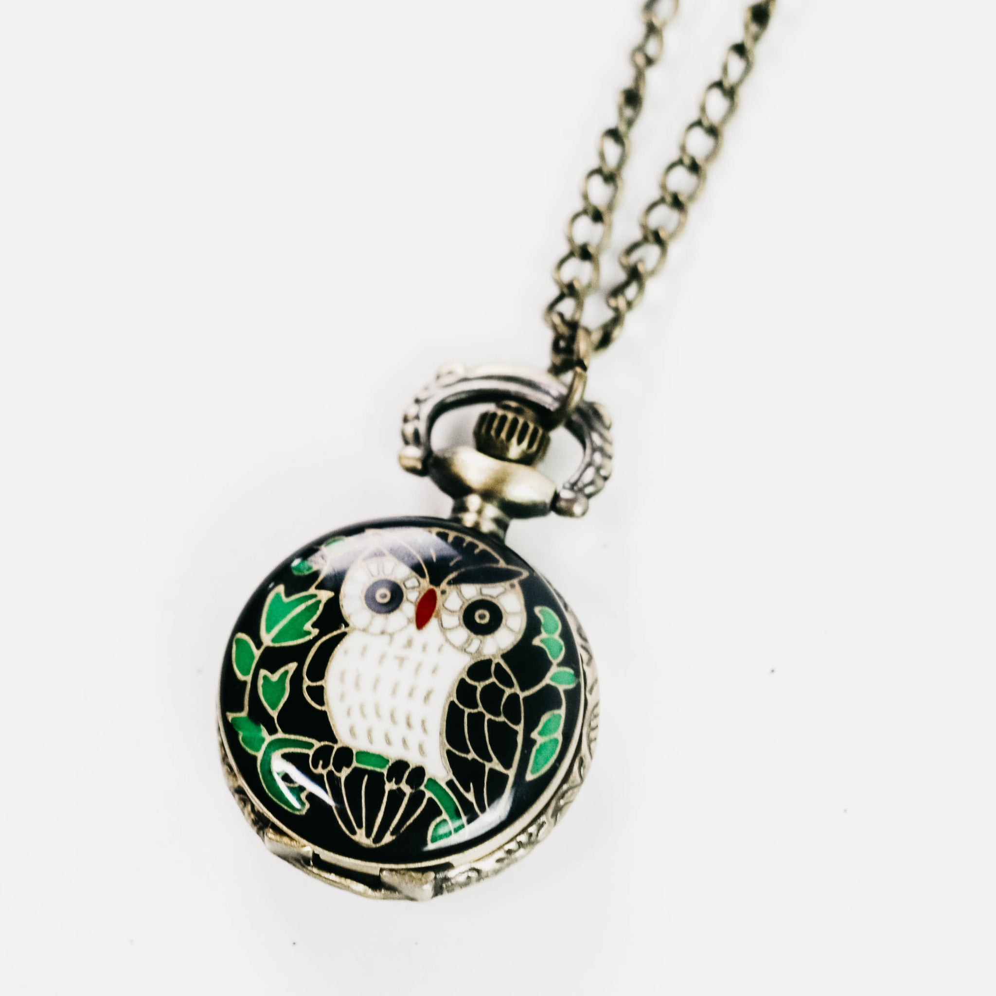 Boho Owl Locket Necklace