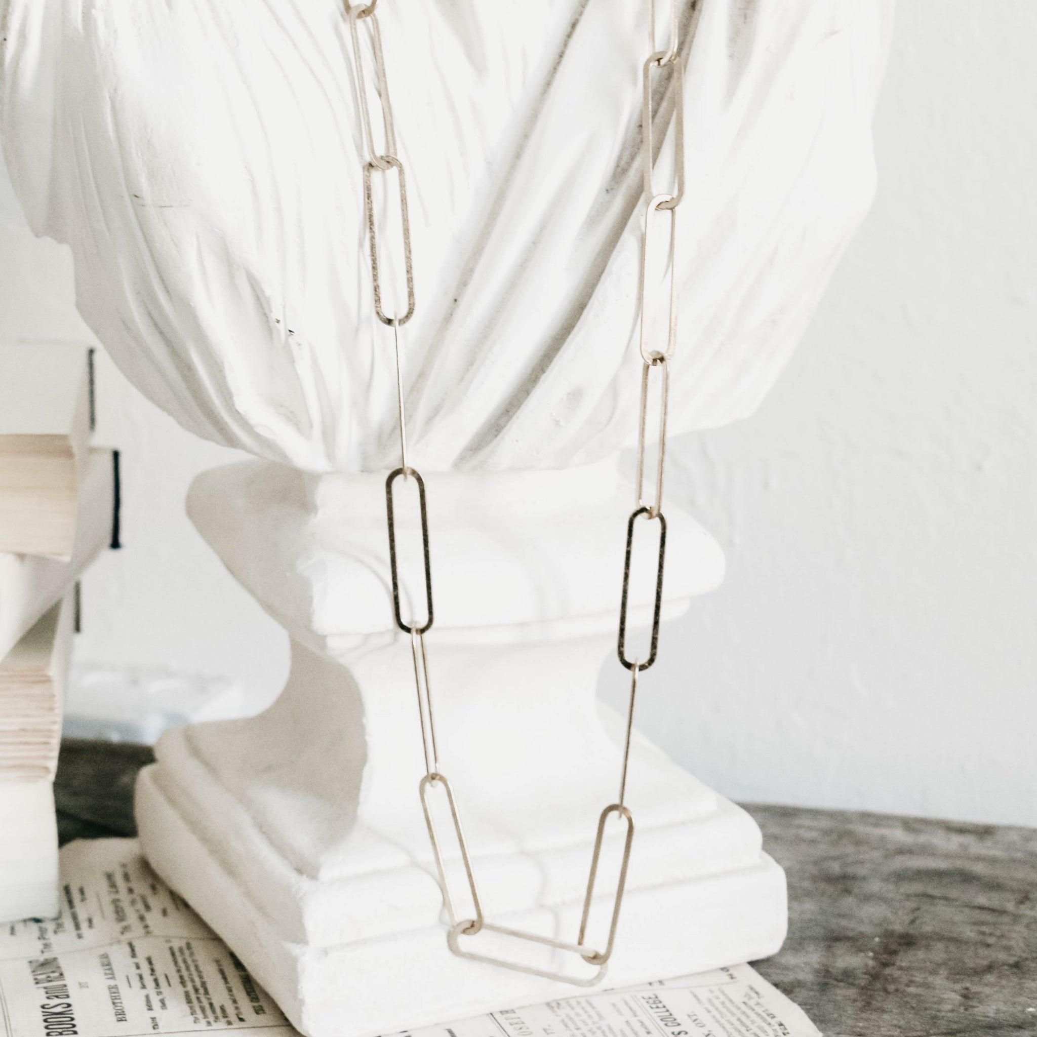Lillian Paperclip Chain Long Necklace