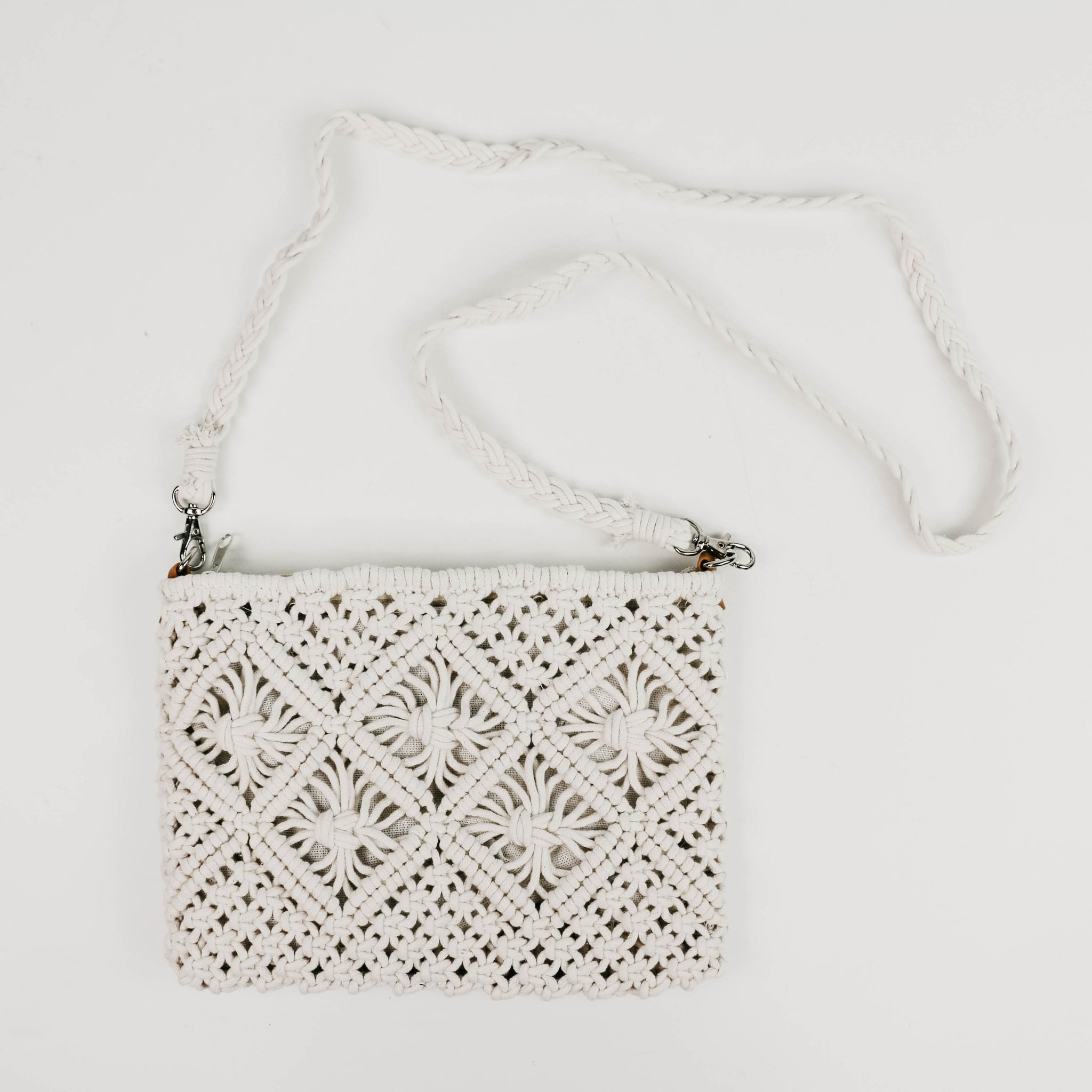 Vegan Woven Cross Body Purse