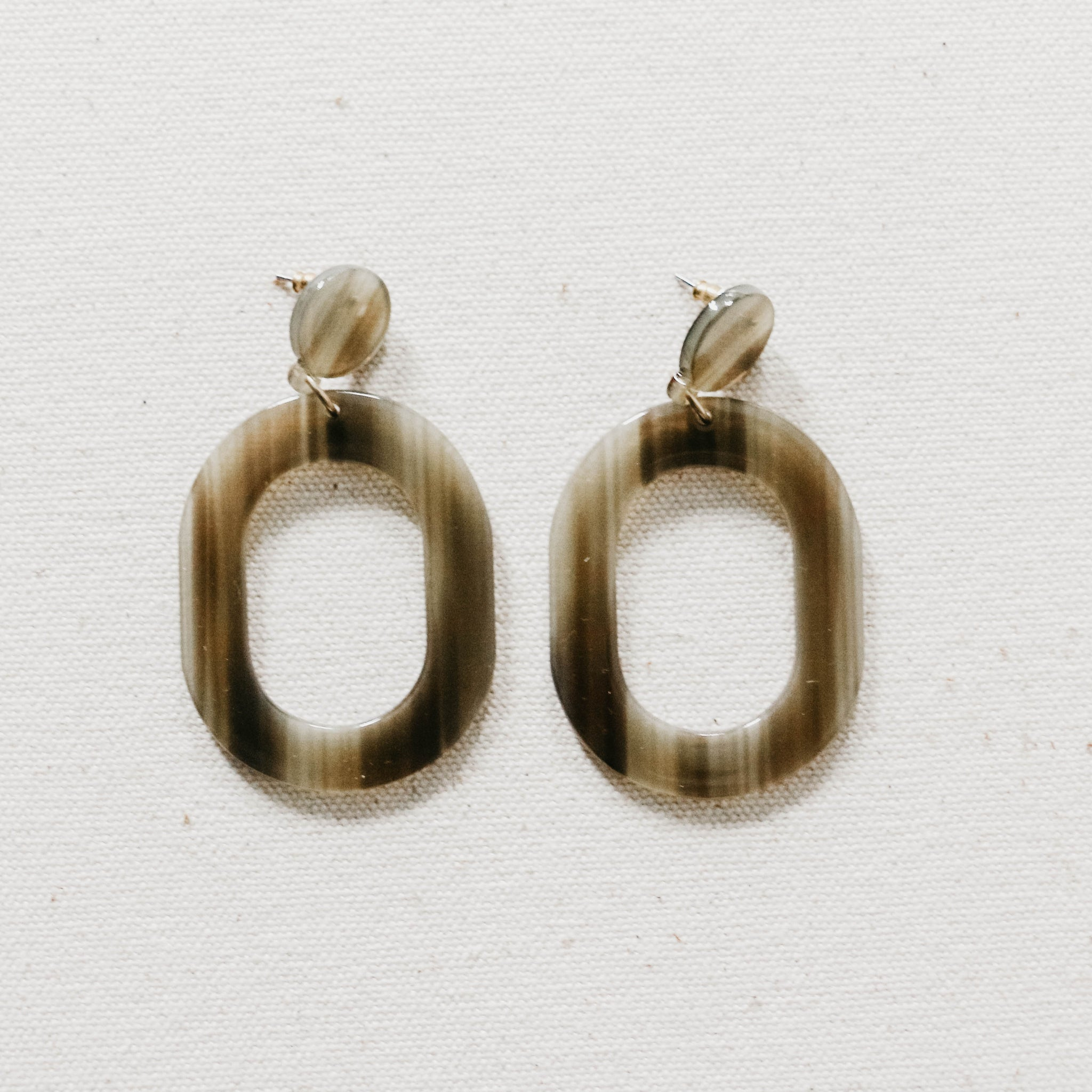 Oval Window Earrings