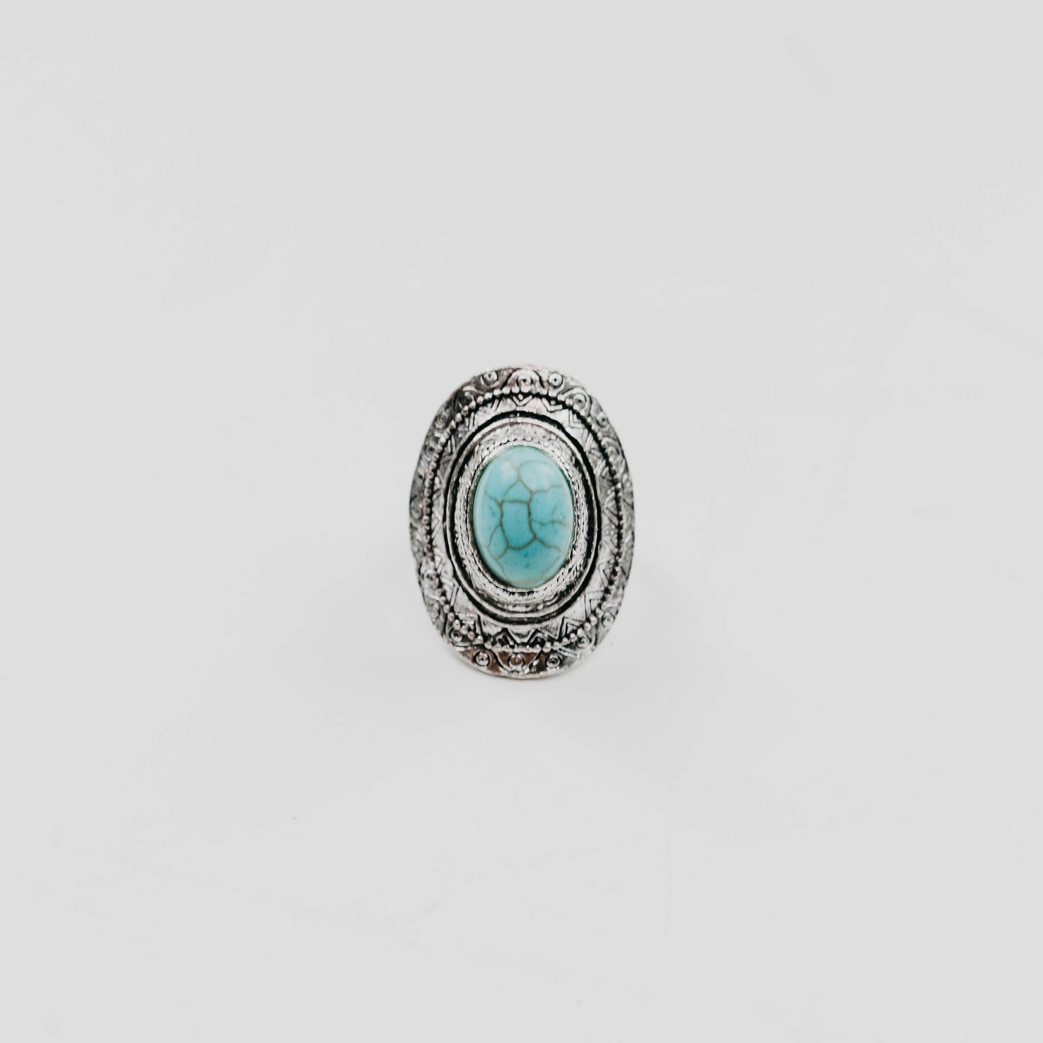 Turquoise Saturn Stone Ring