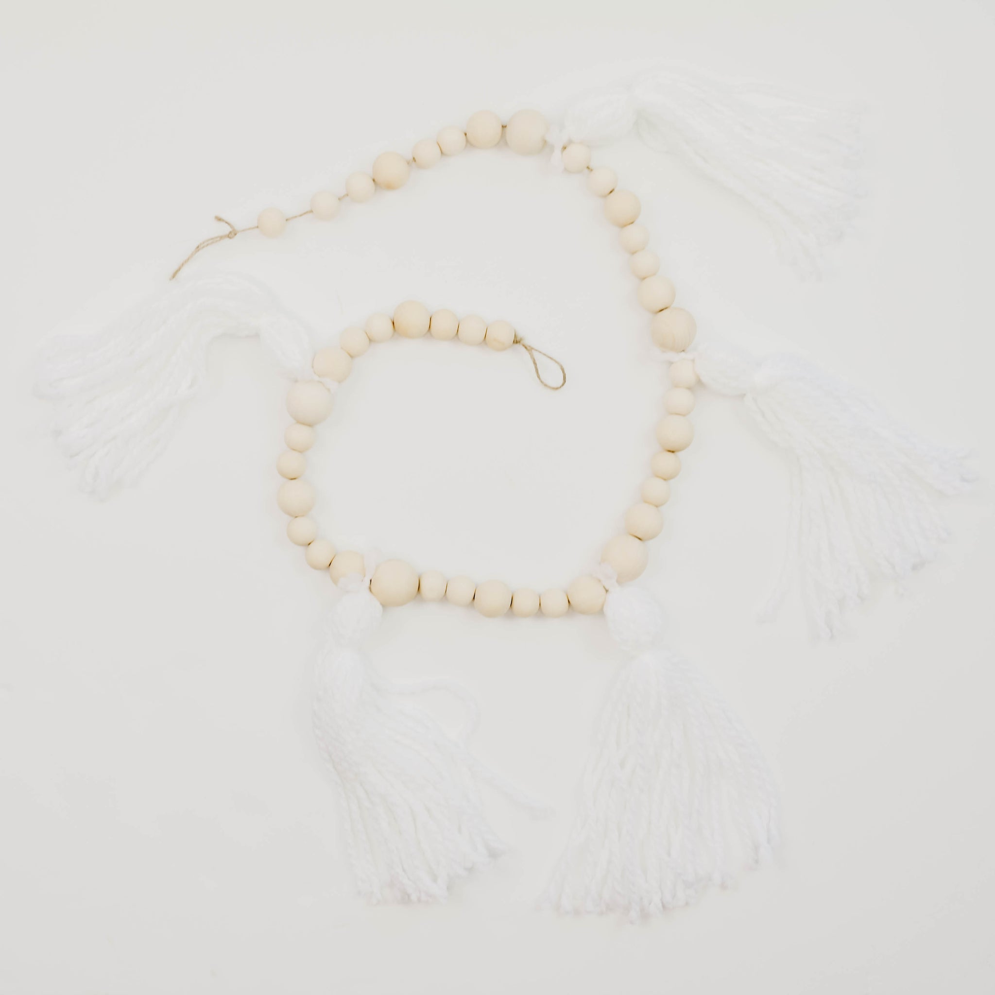 Beaded Wooden Tassel Garland