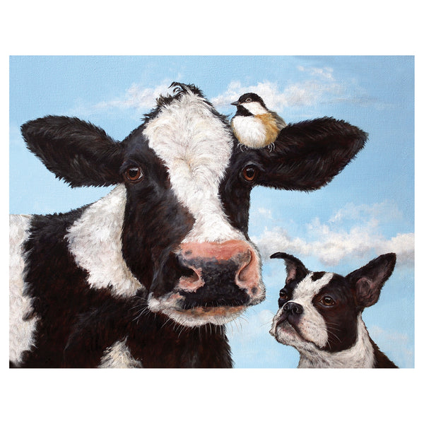 Unlikely Friends Cow Card