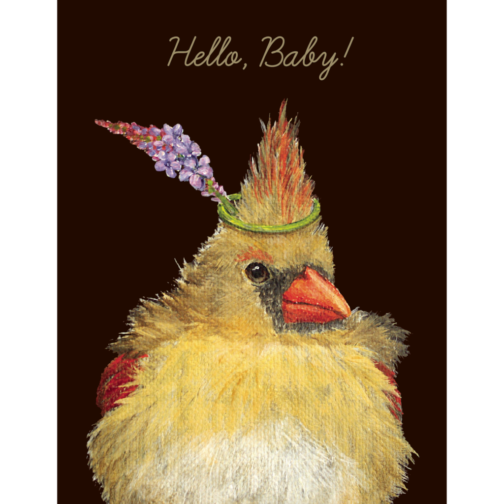 Hello Baby Bird Card