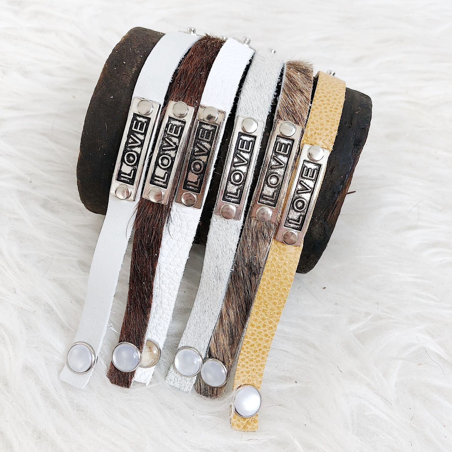 Love Leather Stackable