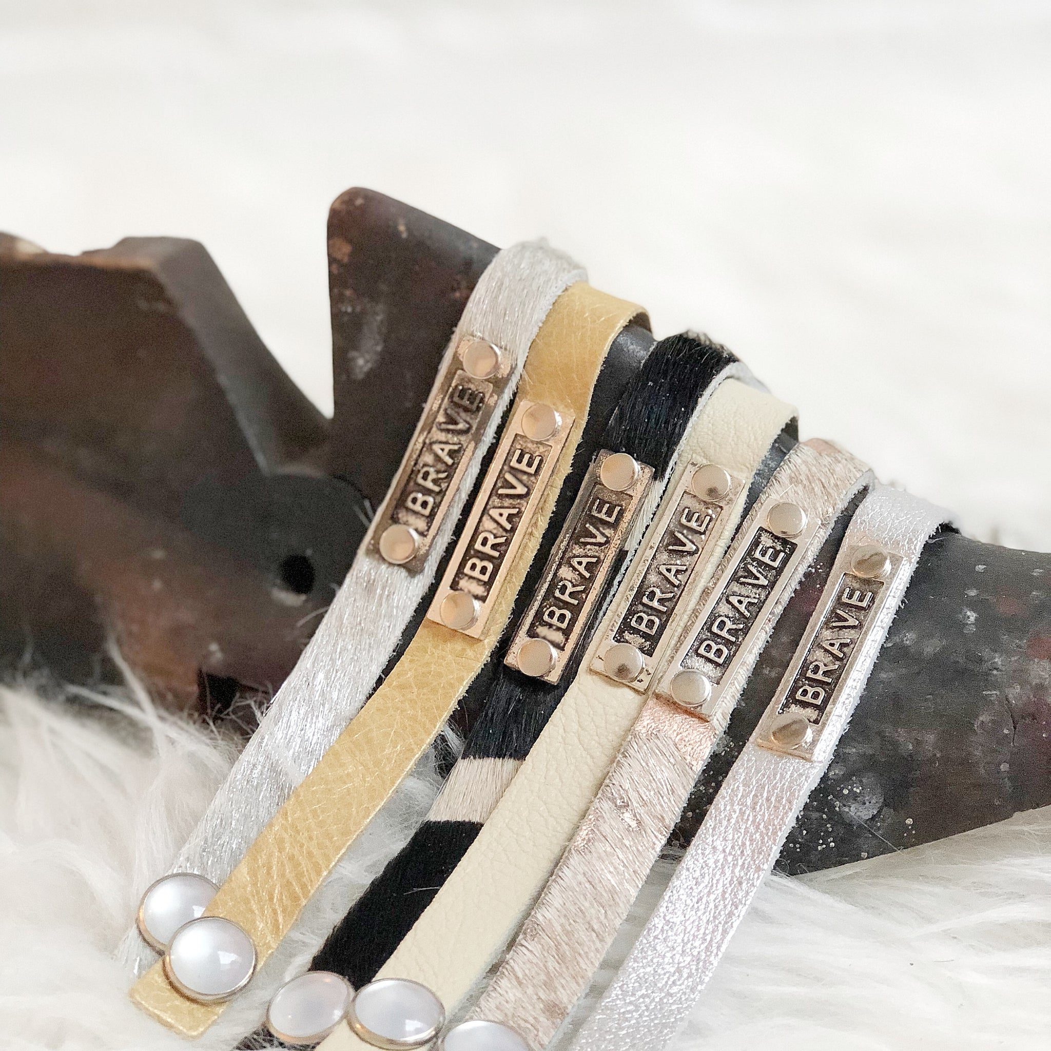 Brave Leather Stackables