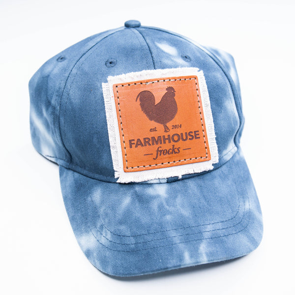 Farmhouse Frocks Tie Dye Canvas Baseball Cap