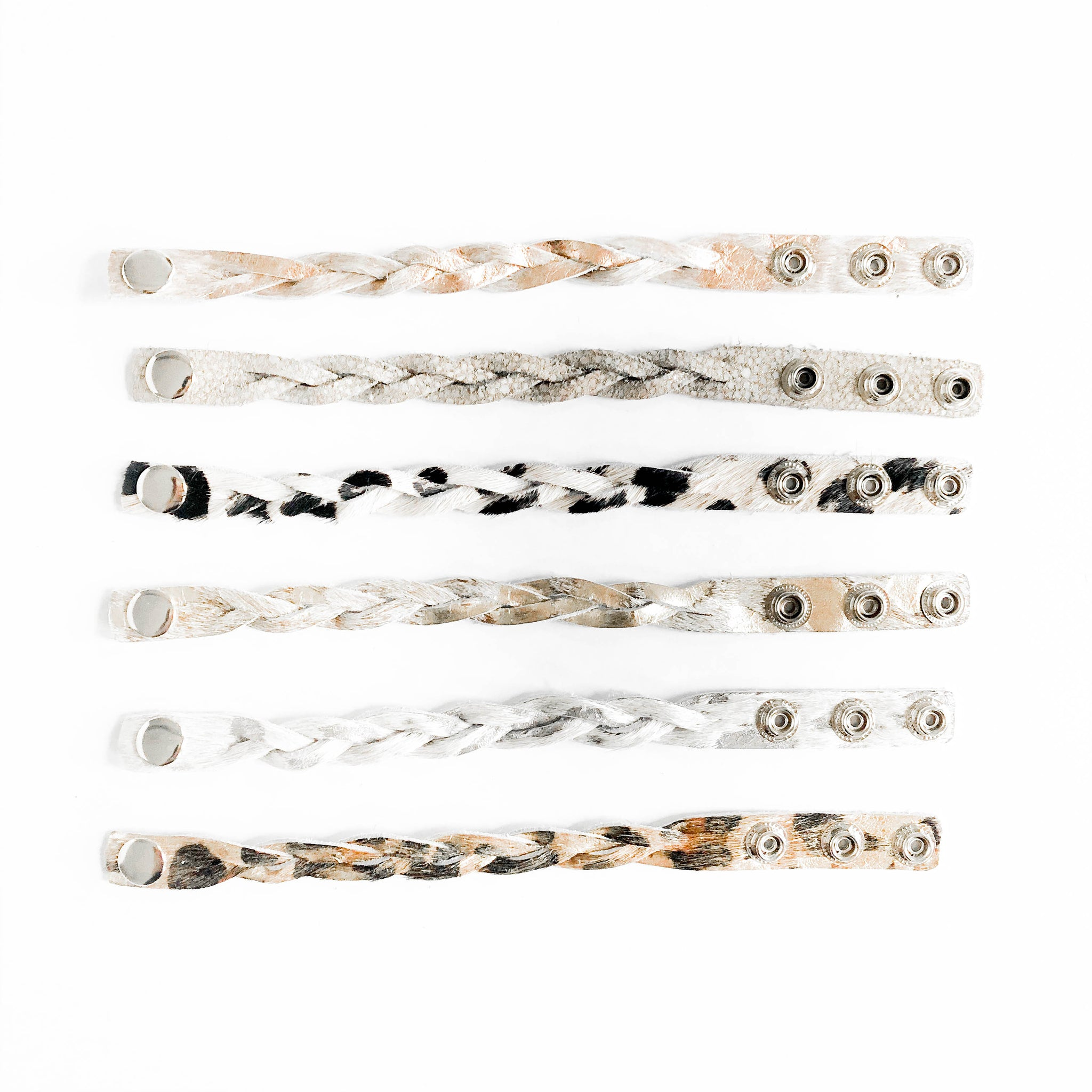 Braided Cowhide Cuffs