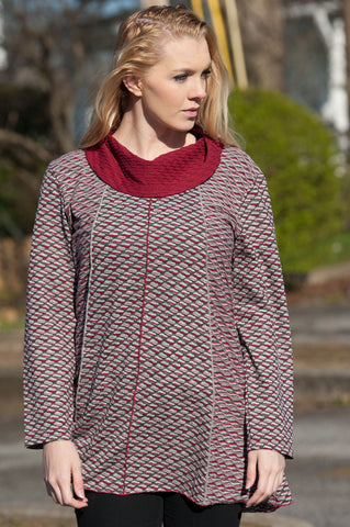 Addison Tunic Red Top