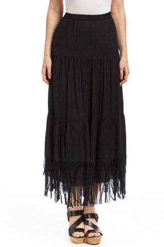 Fringe Black Skirt