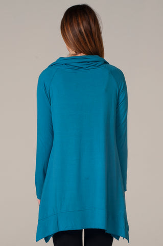 Hailey Cowl Neck Blue Tunic