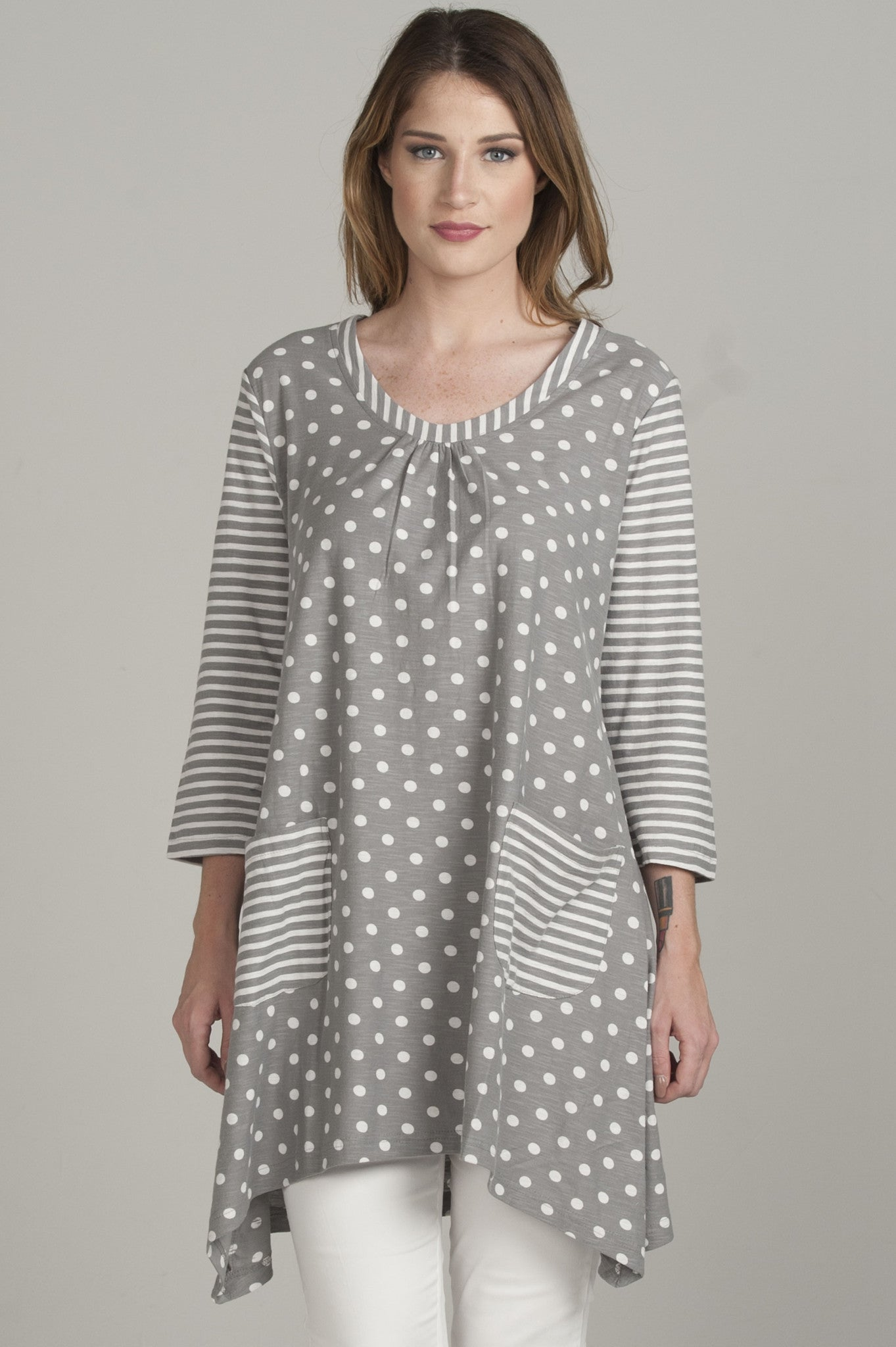 Two-Tone Silver Grey Tunic