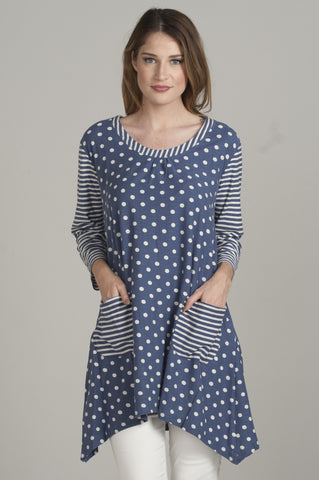 Two-Tone Blue Tunic