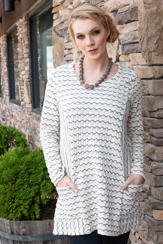 Long Sleeve Textured Tunic