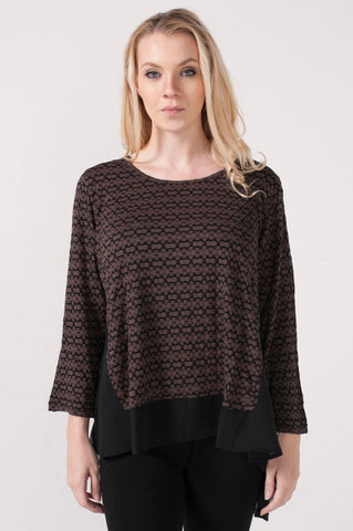 Textured Tunic with Georgette at Backside and Bottom