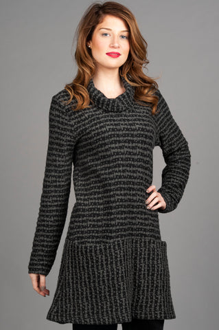 Cowl Neck Long Sleeve Tunic
