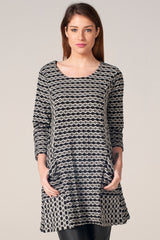 Textured Double Sided Dark Grey Tunic