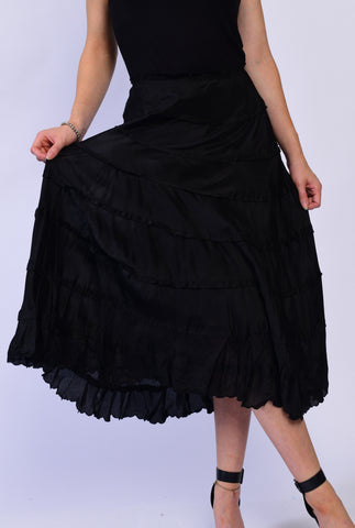 Silk Black Skirt