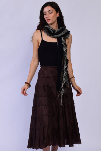 Silk Brown Skirt