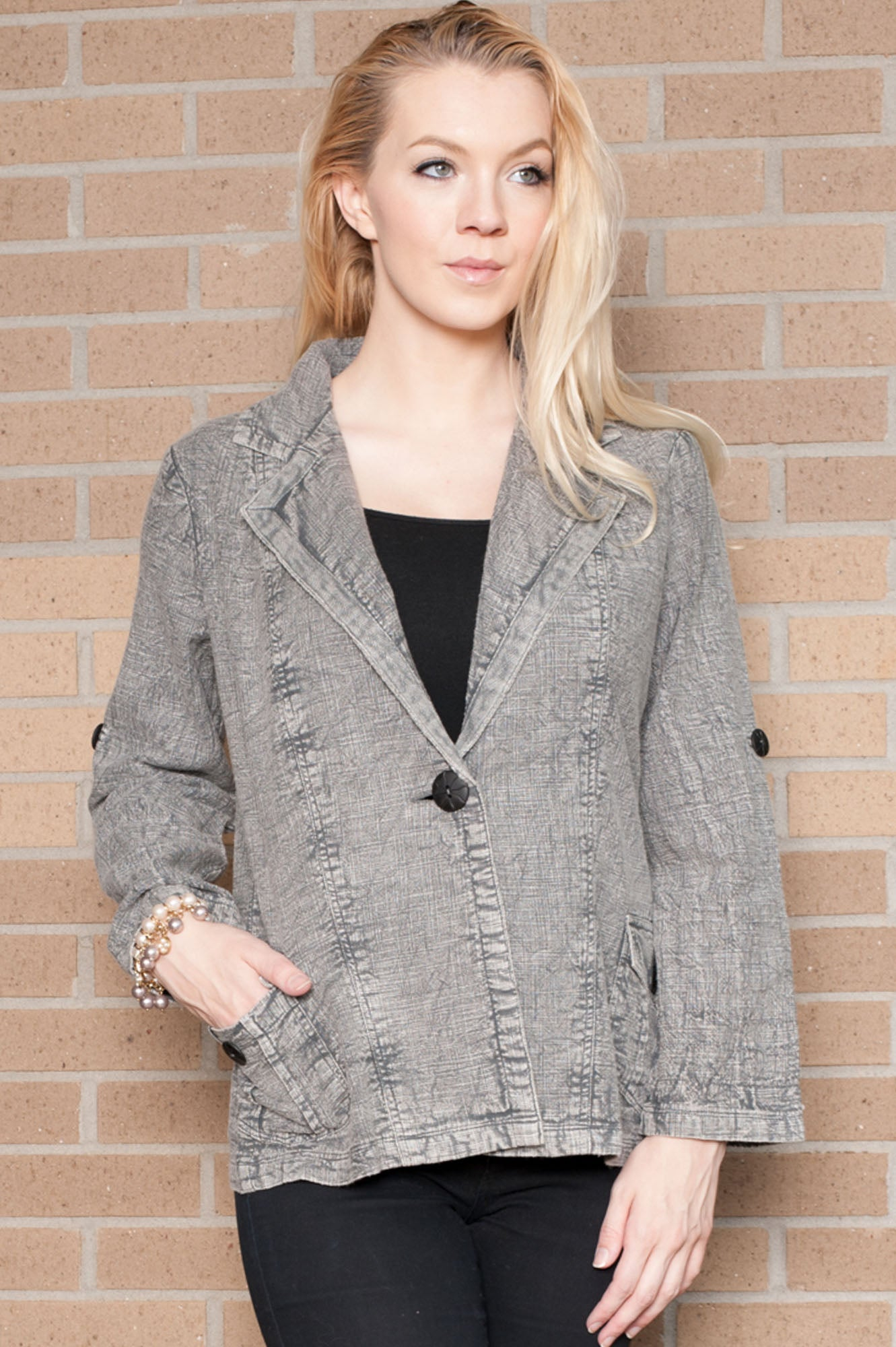 Victoria Stone Wash Grey Jacket