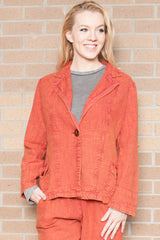 Victoria Stone Wash Rusty Red Jacket