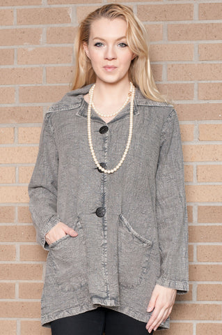 Aria Stone Wash Grey Jacket
