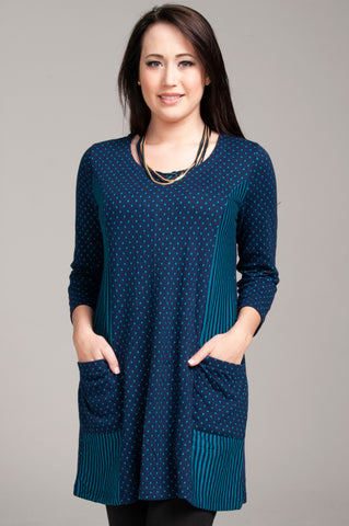 Spot Stripe Blue Tunic