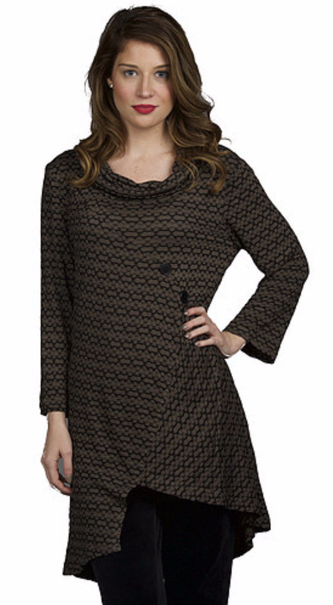 Asymmetrical Tunic with Buttons