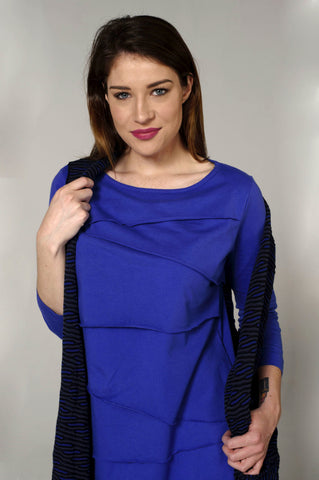 Layer Tier Cobalt Shirt