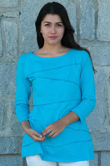 Layer Tier Turquoise Shirt