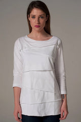 Layer Tier White Shirt