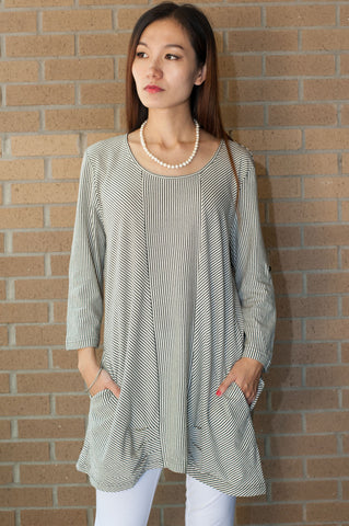 Stripe Two Pocket Tunic
