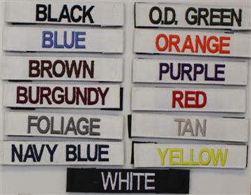 Name Tapes x2 - Custom - Solid Colors Without Velcro