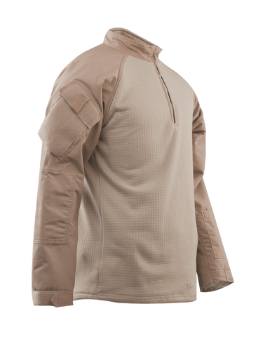 COMBAT SHIRT, COLD WEATHER KH P/C R/S 1/4 ZIP, XSR