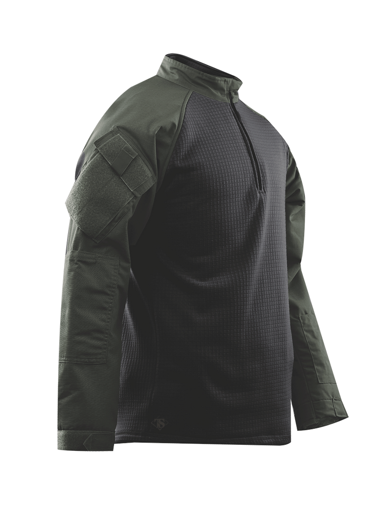 COMBAT SHIRT, COLD WEATHER ODG P/C R/S 1/4 ZIP