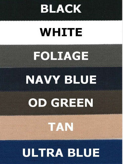 Name Tapes x2 - Custom - Solid Colors With Velcro