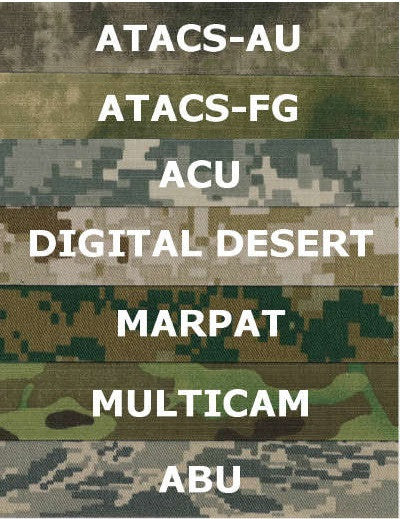 Name Tapes x2 - Custom - Camouflage Colors Without Velcro