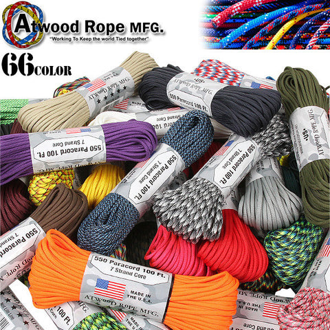 Atwood 550 Paracord - Solids 100 ft